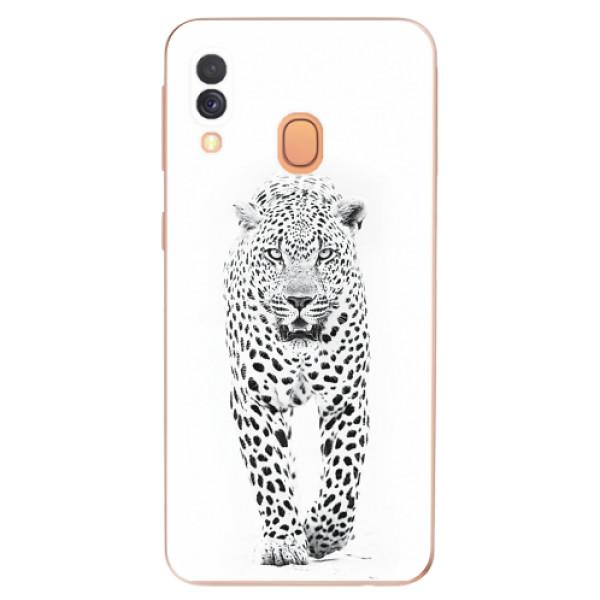 Odolné silikonové pouzdro iSaprio - White Jaguar - Samsung Galaxy A40