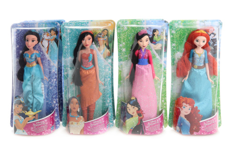 Disney Princezna Mulan, Merida, Pocahotas, Jasmin