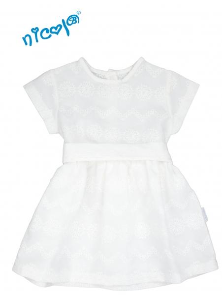 nicol-kojenecke-saty-lady-bile-kratky-rukav-vel-104-104