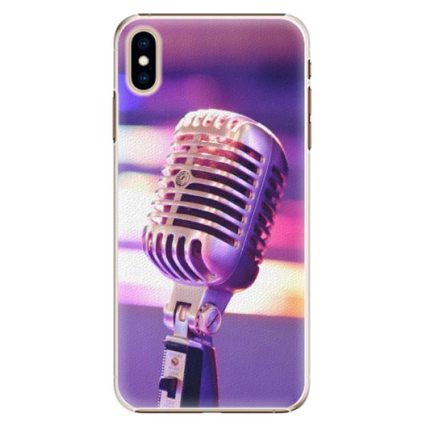 Plastové pouzdro iSaprio - Vintage Microphone - iPhone XS Max