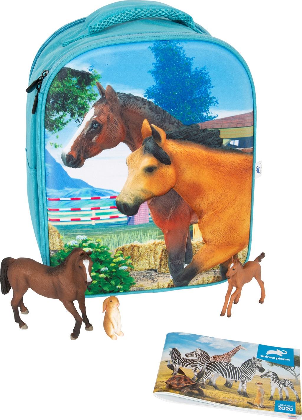 Small Foot Animal Planet 3D Batoh kůň