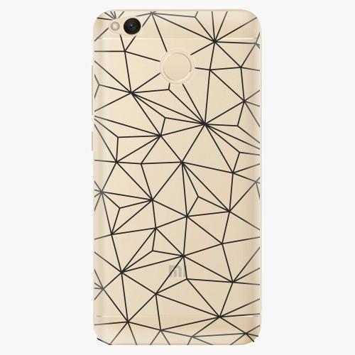 Plastový kryt iSaprio - Abstract Triangles 03 - black - Xiaomi Redmi 4X