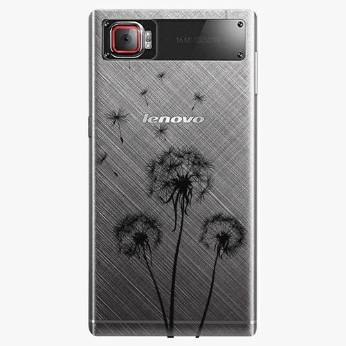 Plastový kryt iSaprio - Three Dandelions - black - Lenovo Z2 Pro