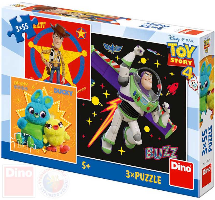 DINO Puzzle Toy Story (Příběh hraček) 18x18cm skládačka 3x55 dílků