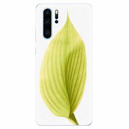 Silikonové pouzdro iSaprio - Green Leaf - Huawei P30 Pro
