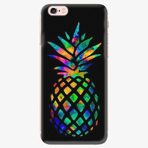 Silikonové pouzdro iSaprio - Rainbow Pineapple - iPhone 7