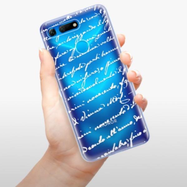 Odolné silikonové pouzdro iSaprio - Handwriting 01 - white - Huawei Honor View 20