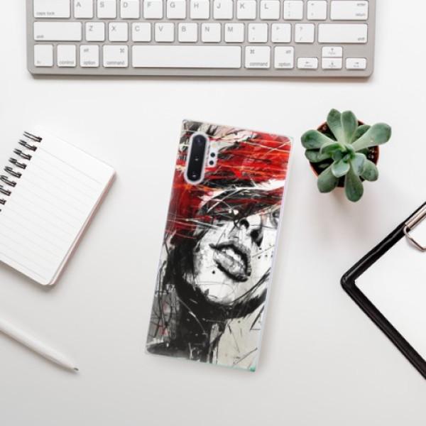 Odolné silikonové pouzdro iSaprio - Sketch Face - Samsung Galaxy Note 10+
