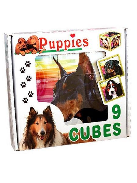 Skládací obrázkové kostky Puppies - dle obrázku