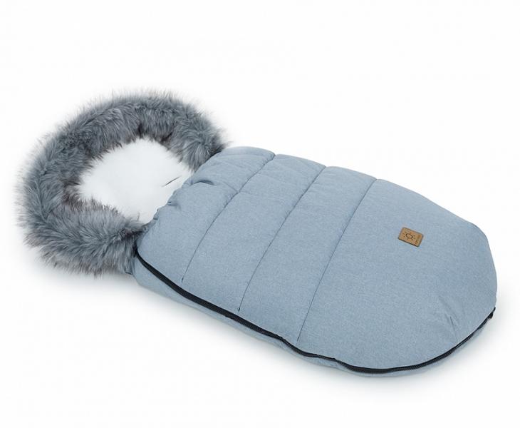 Mamo Tato Zimní fusak Lux s kožešinkou, 50 x 100cm - Šedý/ecru