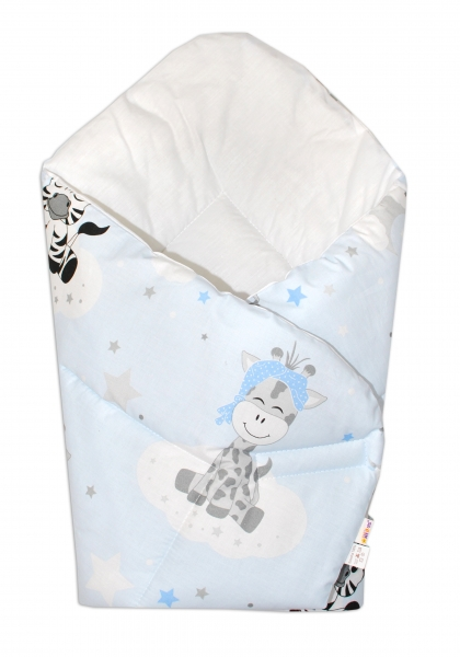 Novorozenecká zavinovačka Safari Baby - sv. modrá