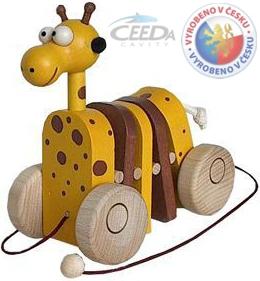 CEEDA DŘEVO Žirafa klapací, tahací *DŘEVĚNÉ HRAČKY*