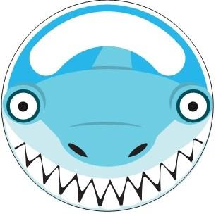 Držák na kartáček - se žralokem