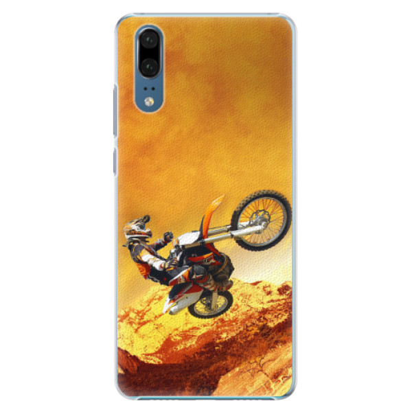 Plastové pouzdro iSaprio - Motocross - Huawei P20