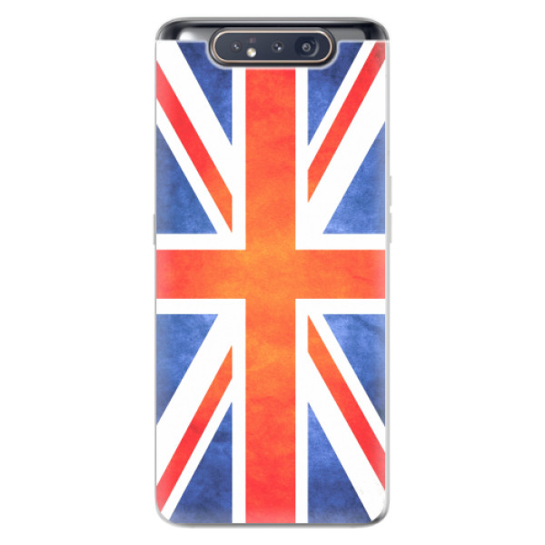 Odolné silikonové pouzdro iSaprio - UK Flag - Samsung Galaxy A80