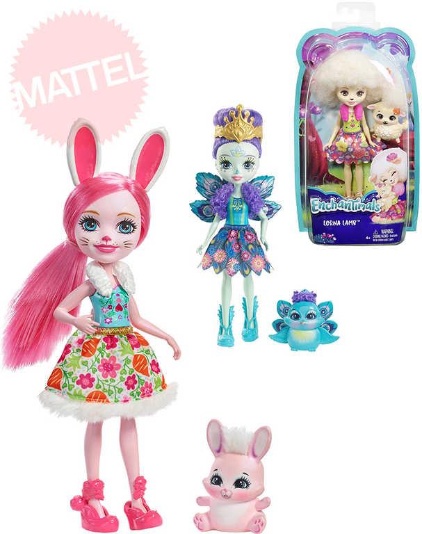MATTEL Enchantimals set panenka 15 cm + zvířátko - 6 druhů