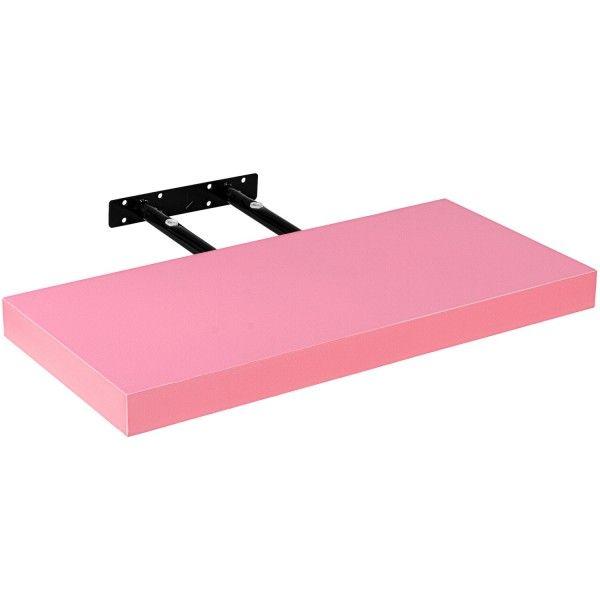 Stilista nástěnná police Volato, 30 cm, růžová