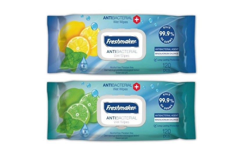Freshmaker antibakteriální vlhčené ubrousky 120 kusů