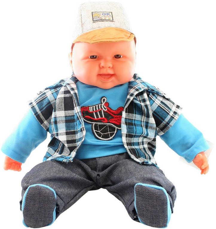 Panenka miminko velké kluk 55cm měkké tělíčko v oblečku