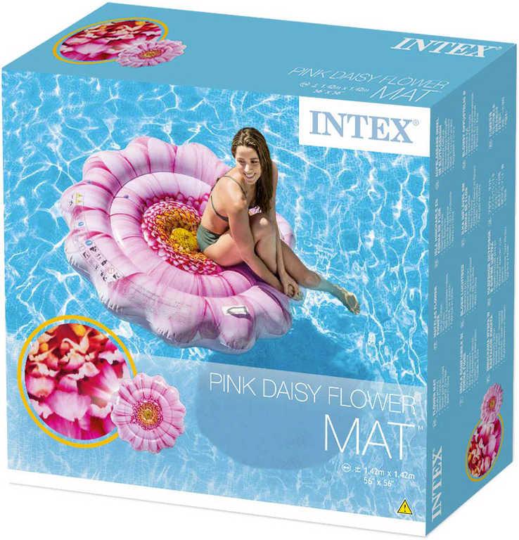 INTEX Lehátko nafukovací Sedmikráska 142cm matrace s úchyty na vodu 58787