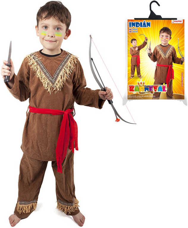 KARNEVAL Šaty indián vel. M (120-130cm) 6-8 let *KOSTÝM*