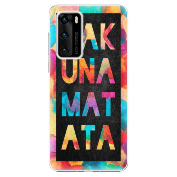 Plastové pouzdro iSaprio - Hakuna Matata 01 - Huawei P40