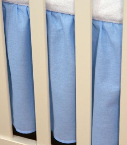 Krásný volánek pod matraci - Srdíčko modré