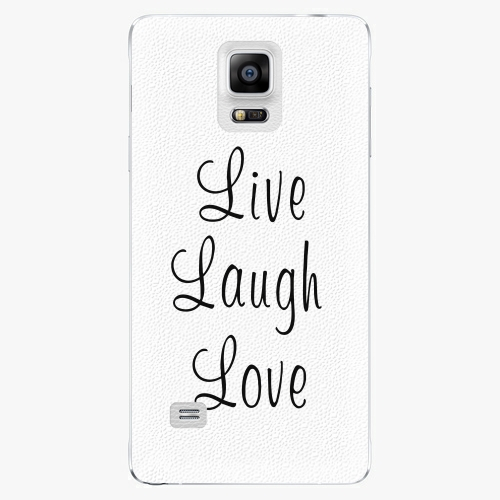 Plastový kryt iSaprio - Live Laugh Love - Samsung Galaxy Note 4