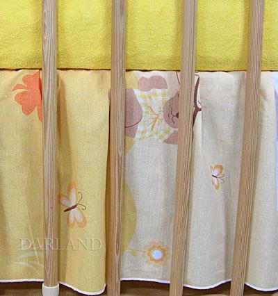 VÝPRODEJ Krásný volánek pod matraci - Motýlek krémový - 120x60