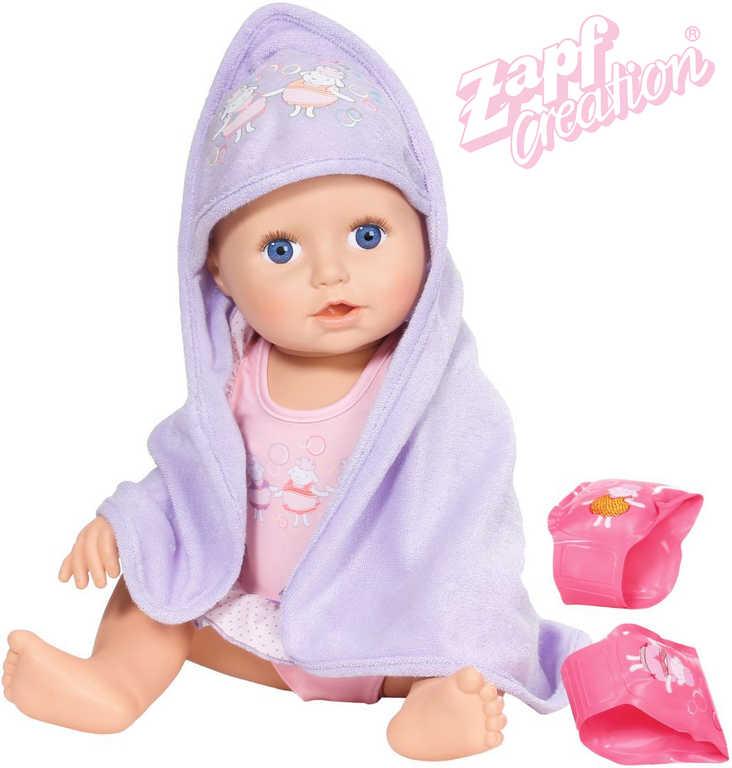 ZAPF BABY ANNABELL Panenka miminko 43cm Učí se plavat s doplňky na baterie