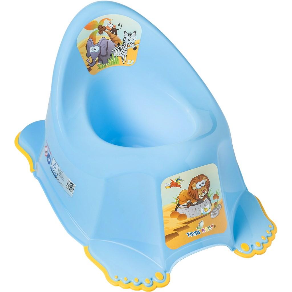 Dětský nočník protiskluzový Safari - modrá