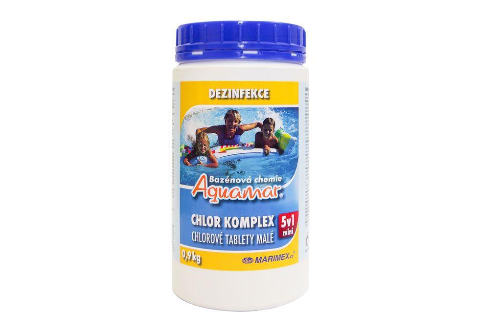 Bazénová chemie AquaMar Komplex Mini 5v1 0,9kg
