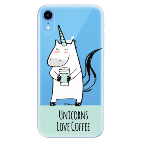 Odolné silikonové pouzdro iSaprio - Unicorns Love Coffee - iPhone XR