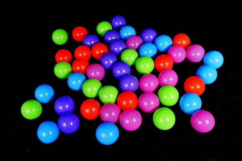 Plastové míčky 200 ks (7 cm)