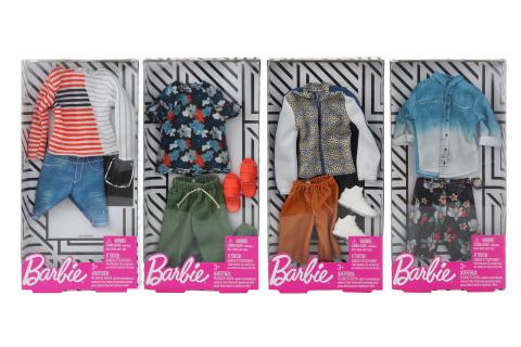 Barbie 4 druhy Kenovy oblečky FKT44