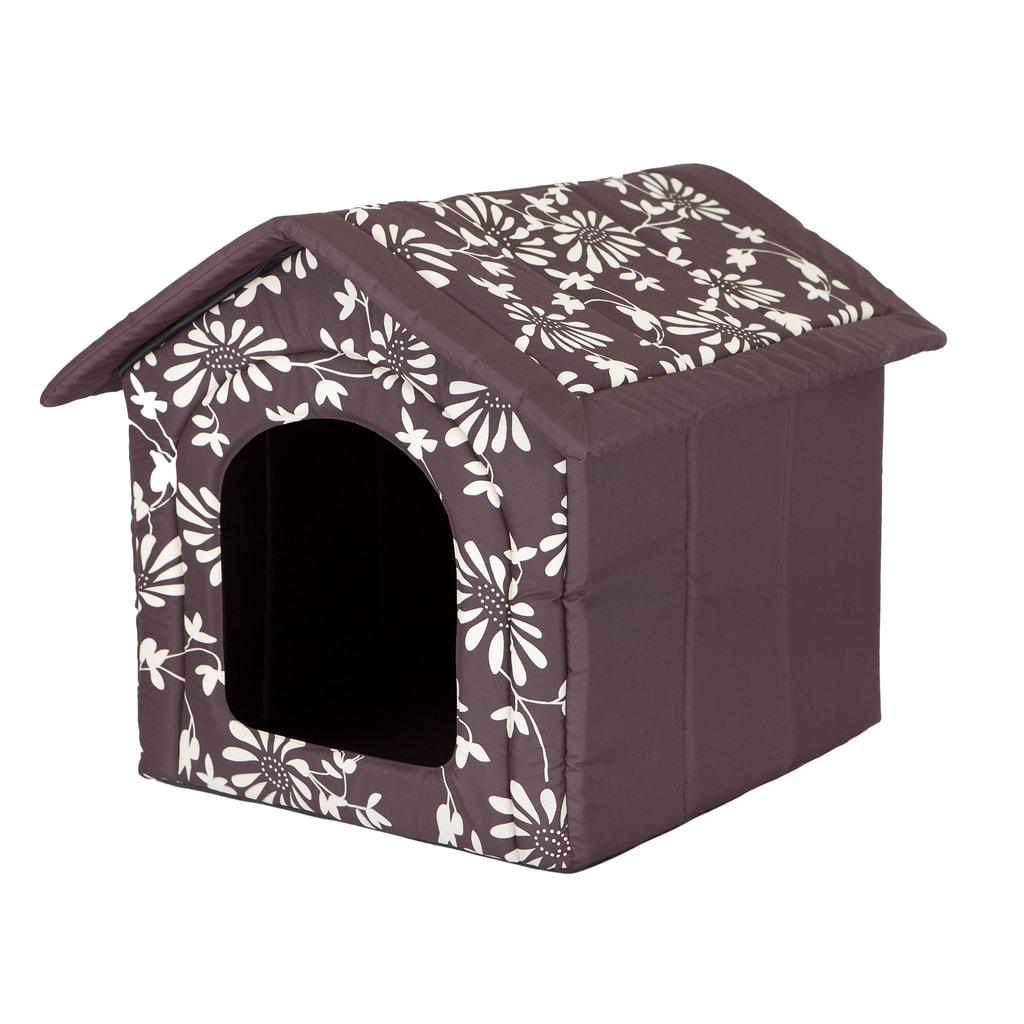 Domeček pro psa Reedog Brown Flower - L