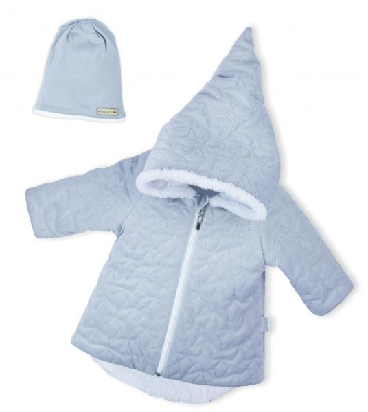 Luxusní prošívaná bundička, kabátek s čepičkou Nicol Velvet Skřítek