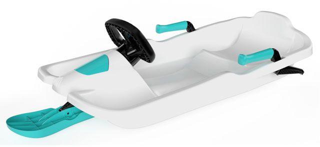 Plastkon - bob Skipper s volantem - bílý
