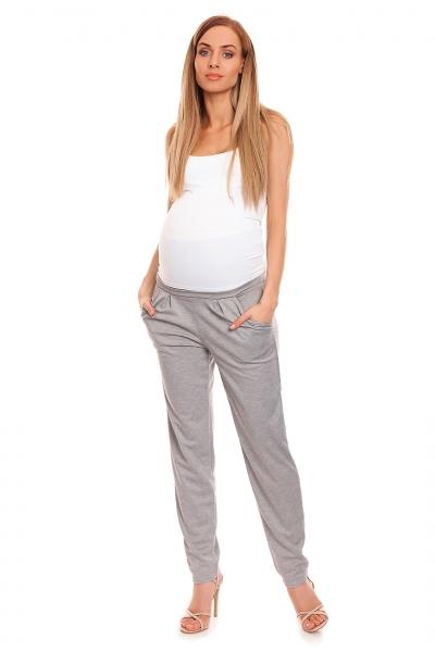 Be MaaMaa Těhotenské kalhoty s pružným, vysokým pásem