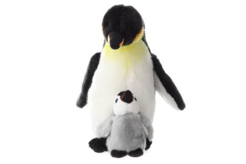 Plyš Tučňák s mládětem