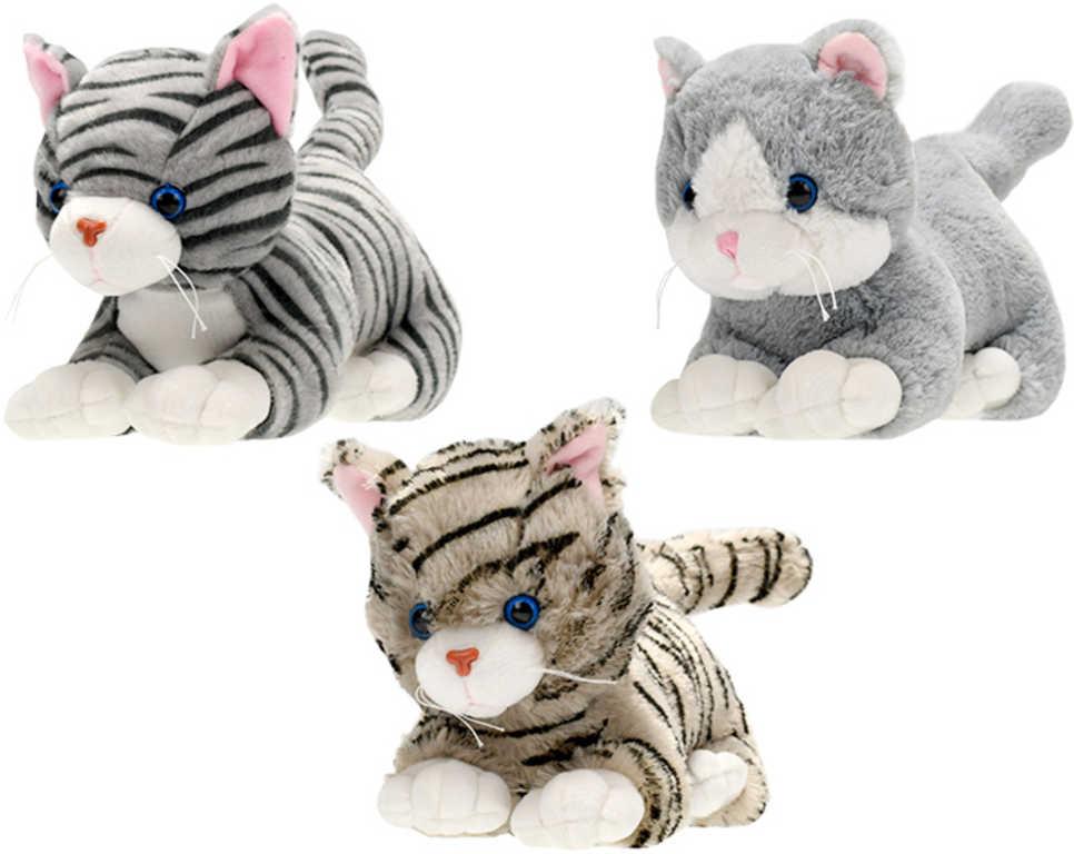PLYŠ Kočka 35cm ležící různé druhy *PLYŠOVÉ HRAČKY*