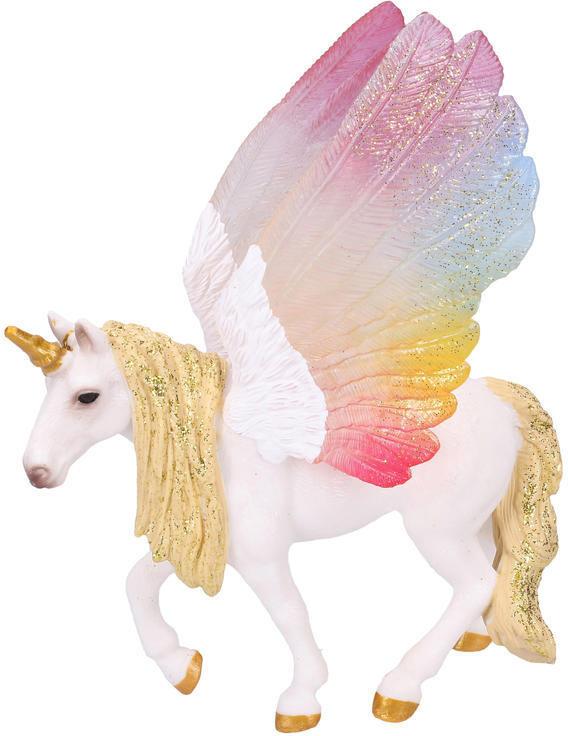 Figurka okřídlený koník Pegas 15cm jednorožec ručně malovaný plastový