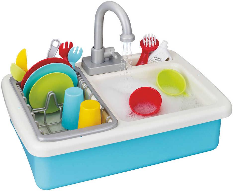 Dřez kuchyňský set nádobím s funkčním kohoutkem na vodu na baterie s doplňky