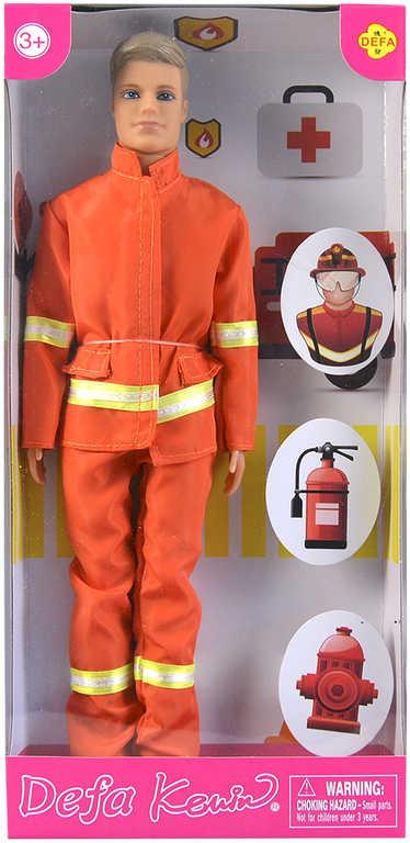Panák Defa Kevin hasič 30cm panenka v krabičce