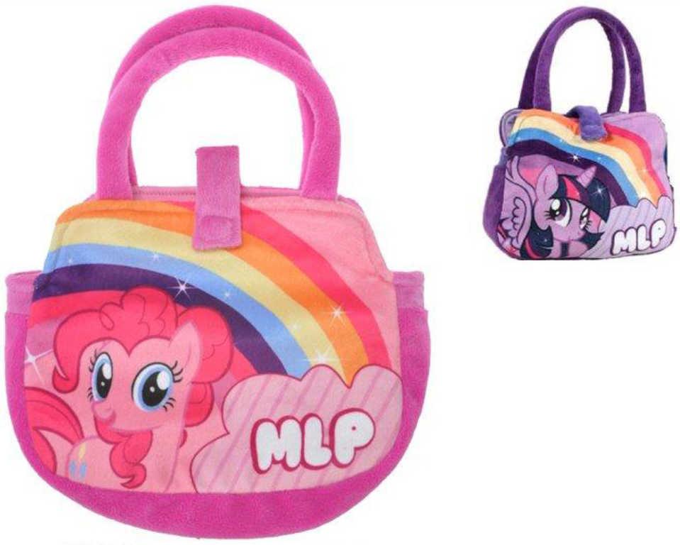 PLYŠ MLP Taštička plyšová dětská kabelka 2 druhy My Little Pony