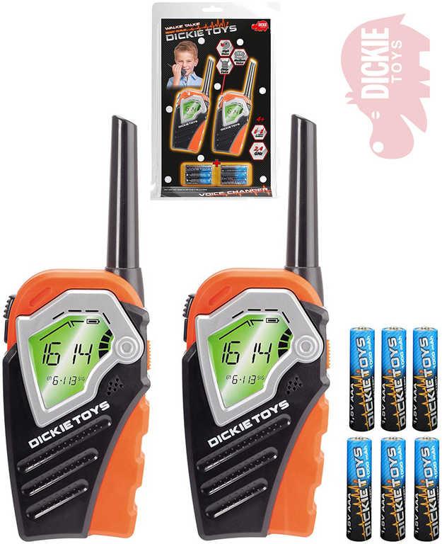 DICKIE Vysílačky dětské 1pár WalkieTalkie 2,4GHz změna hlasu na baterie plast