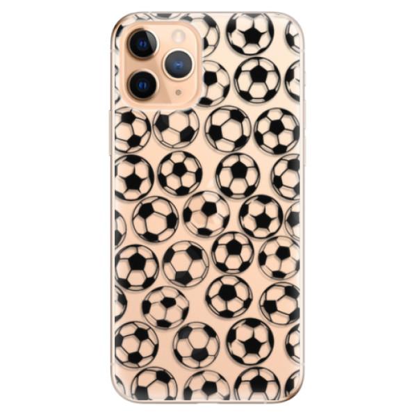 Odolné silikonové pouzdro iSaprio - Football pattern - black - iPhone 11 Pro