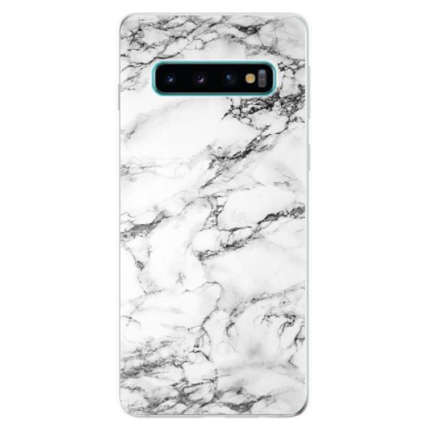 Odolné silikonové pouzdro iSaprio - White Marble 01 - Samsung Galaxy S10