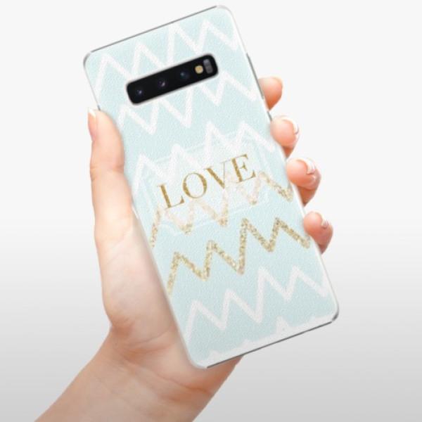Plastové pouzdro iSaprio - GoldLove - Samsung Galaxy S10+