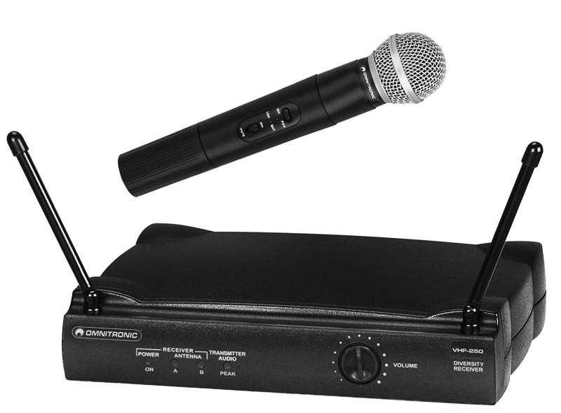 Omnitronic VHF-250 214.00 MHz, bezdrátový mikrofonní set VHF